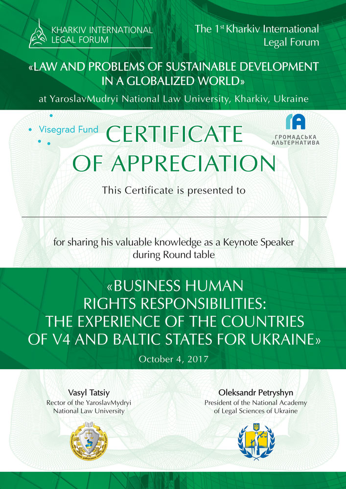 Business Human Rights Responsibilities, Round Table Law